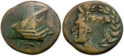 Ancient Coins - Mysia. Parion Æ21 / Unique Overstrike