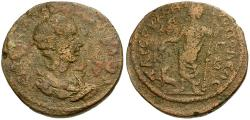 Ancient Coins - Herennia Etruscilla. Cilicia. Tarsos Æ28 / Dionysos