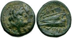 Ancient Coins - Phoenicia. Arados Æ16 / Zeus and Hera