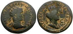 Ancient Coins - Philip I, Syria, Seleucia and Pieria, Antioch Æ21 / Bust of Tyche