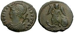 Ancient Coins - EF/EF Constantinople Commemorative Æ3 / Victory