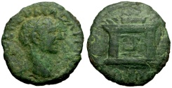 Ancient Coins - Trajan, Bithynia, Nicaea Æ20 / Altar