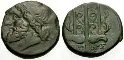 Ancient Coins - VF/VF Sicily, Syracuse, Hieron II Æ18 / Poseidon / Trident