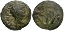Ancient Coins - Trajan. Judaea. Tiberias Galilee Æ13 / Anchor