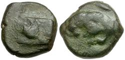 Ancient Coins - Ionia. Samos. Imperial Times Æ16 / Bull