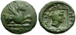 Ancient Coins - Thrace. Abdera Æ15 / Griffin