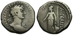 Ancient Coins - Hadrian. Cilicia. Aigeai AR Tridrachm / Athena