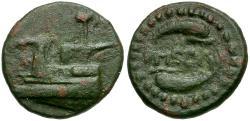 Ancient Coins - Megaris. Megara Æ Dichalkon / Dolphins