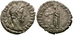 Ancient Coins - Commodus (AD 177-192) AR Denarius / Emperor Sacrificing
