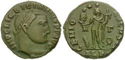 Ancient Coins - Licinius I (AD 308-324) Æ3 / Head of Serapis