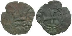 World Coins - Crusades. Epirus. John II Orsini Billon Denier / Castle of Arta