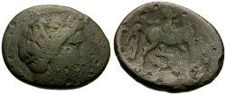 Ancient Coins - Thessaly, Phakion Æ Trichalkon / Horse and rider