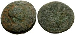 Ancient Coins - Severus Alexander, Judaea, Aelia Capitolina (Jerusalem) Æ24 / Roma Seated