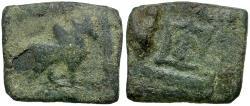 Ancient Coins - Kings of Baktria. Apollodotos I Æ Chalkous / Tripod