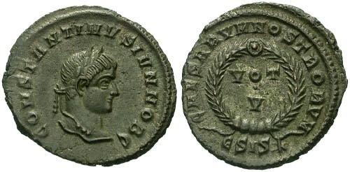 Ancient Coins - EF/EF Constantine II Votive