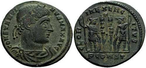 Ancient Coins - VF/EF Constantine the Great / Gloria