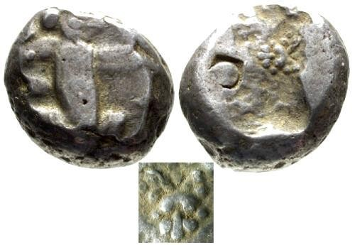 Ancient Coins - VF/VF Persian Imperial AR Siglos / Great King with Dagger / Rare Lions Scalp in Incuse