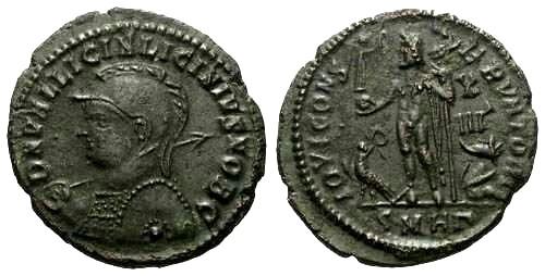Ancient Coins - VF/EF Licinius II Follis / Jupiter
