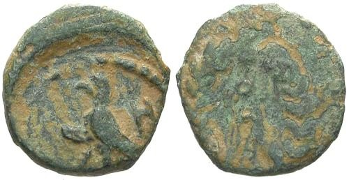 Ancient Coins - aVF/aVF Kings of Nabataea Aretas IV AE / Eagle