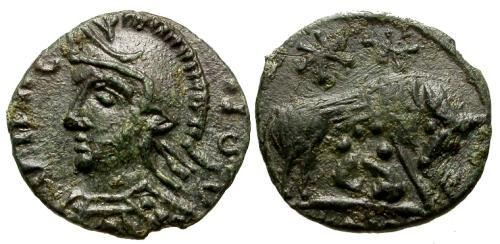 Ancient Coins - EF/EF Constantinople Commemorative Imitative AE / She-wolf right