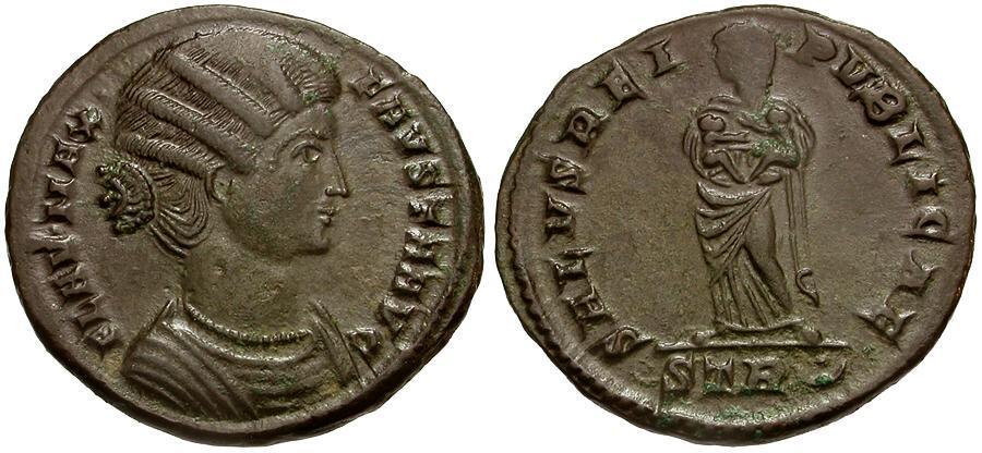Ancient Coins - Fausta AE3 / Salus