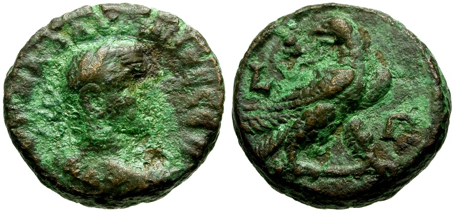 Ancient Coins - Claudius II Gothicus, Egypt Alexandria Æ Tetradrachm / Eagle