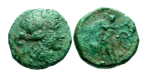 Ancient Coins - gF/F Thrace Maroneia AE17 / Dionysos