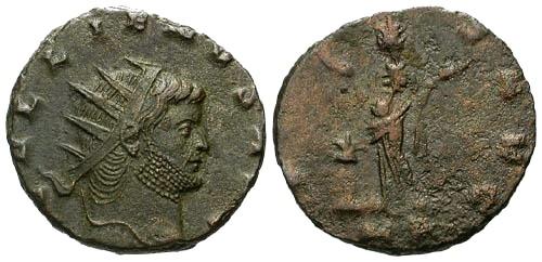 Ancient Coins - VF/VG Gallienus AE Antoninianus / Pietas