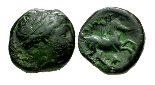 Ancient Coins - VF/VF Philip II Bronze / Youth on Horse