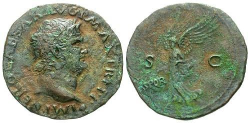 Ancient Coins - VF/VF Nero As / Victory SPQR
