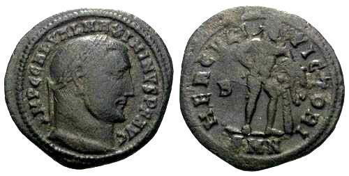 Ancient Coins - F Maximinus II Follis / Hercules