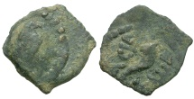 Ancient Coins - Kings of Judaea. Herod I the Great Æ Lepton / Graven Image