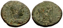 Ancient Coins - gF+/gF Hadrian Æ Semis / Roma seated