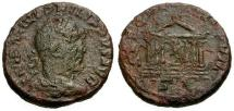 Ancient Coins - F/F Philip I Æ AS / Roma in Temple