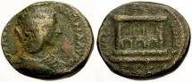 Ancient Coins - Julia Domna, Syria, Emisa Æ25 / Great Altar of Elagabal