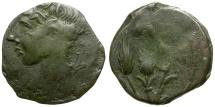Ancient Coins - North Africa. Carthage Æ19 / Corn ears