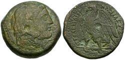 Ancient Coins - Ptolemaic Kings of Egypt. Ptolemy II Philadelphos Æ23 Hemiobol / Alexander the Great