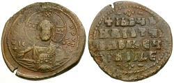 Ancient Coins - *Sear 1813* Byzantine Empire. Anonymous Class A2 Æ 34mm Follis / Portrait of Christ