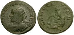 Ancient Coins - Philip I. Commagene. Samosata Æ29 / Tyche and Pegasus