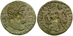 Ancient Coins - Pisidia. Termessos Major. Pseudo-Autonomous Issue Æ28 / Emperor Erecting Trophy