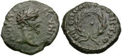 Ancient Coins - Septimius Severus (AD 193-211). Moesia Inferior. Nicopolis ad Istrum Æ17 / Wreath