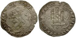 World Coins - Spain. Castile and Leon. Pedro I The Cruel Billon 4 Maravedis