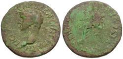 Ancient Coins - Claudius Æ Dupondius / Ceres