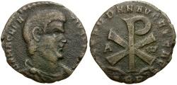 Ancient Coins - Magnentius Æ Half Centenionalis / Christogram