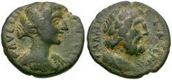 Ancient Coins - Faustina II (AD 147-175). Decapolis. Gadara Æ20 / Zeus