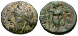 Ancient Coins - Thessaly. Ekkarra Æ12 / Artemis
