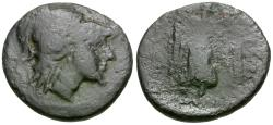 Ancient Coins - Thessaly. Pelinna Æ21 / Nike