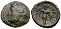 Ancient Coins - Thessaly. Ekkarra Æ14 / Artemis