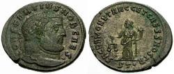 Ancient Coins - aEF/EF Constantius I as Caesar Æ Follis / Moneta
