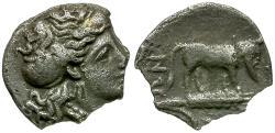 Ancient Coins - Sicily. Gela AR Litra / Man-headed Bull